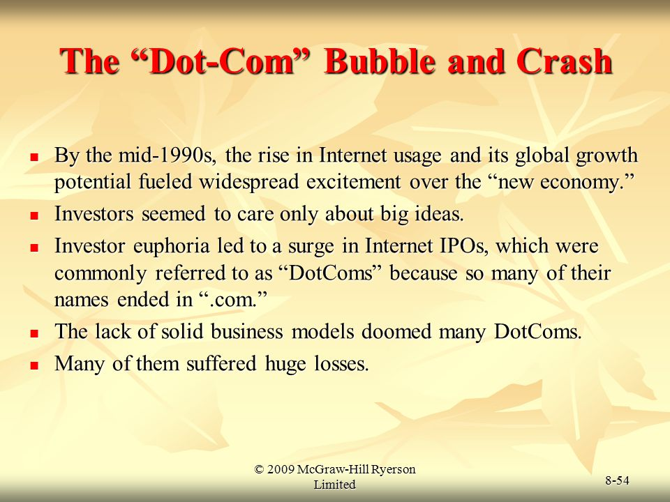 The Dot-Com Bubble and Crash