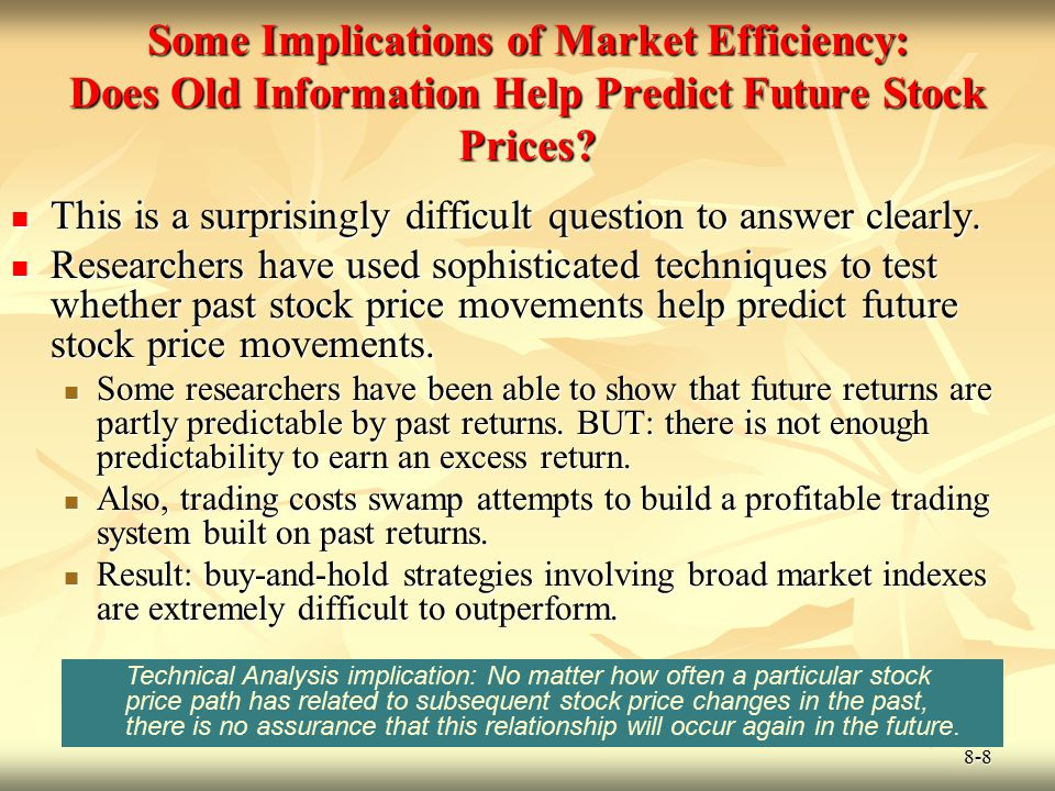 Some Implications of Market Efficiency: Does Old Information Help Predict Future Stock Prices