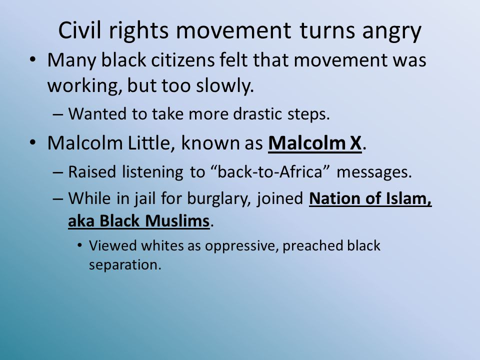 Civil rights movement turns angry