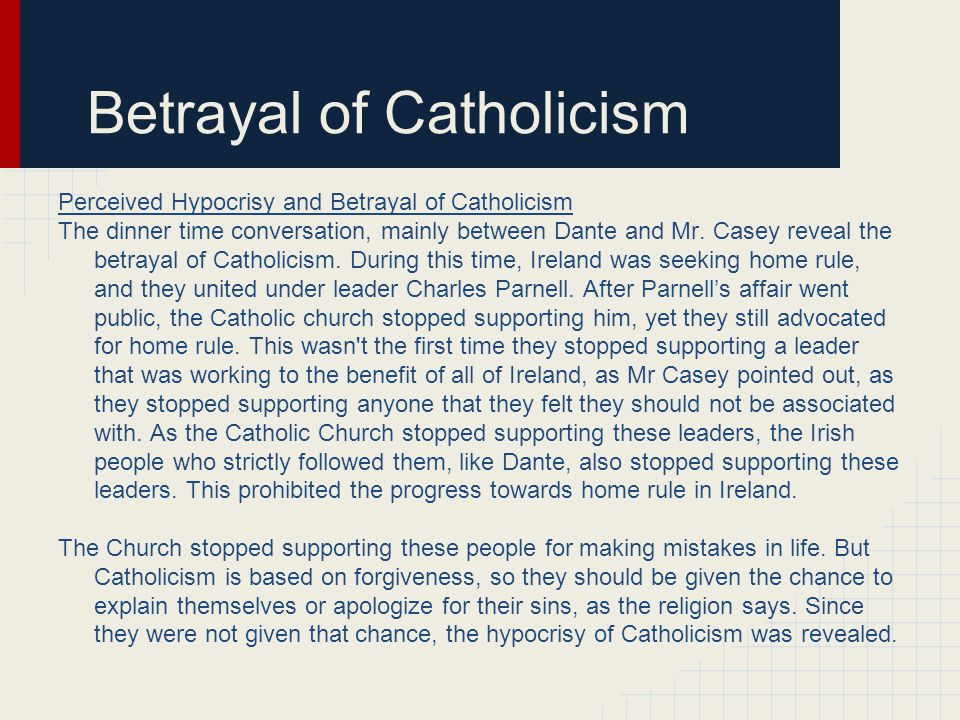 Betrayal of Catholicism