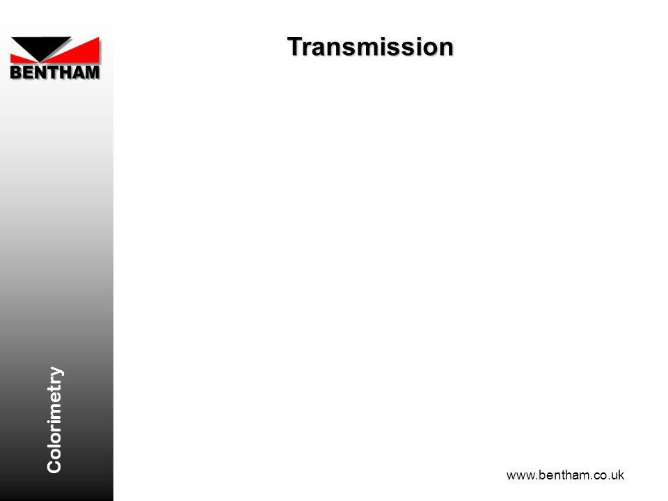 Transmission Colorimetry www.bentham.co.uk