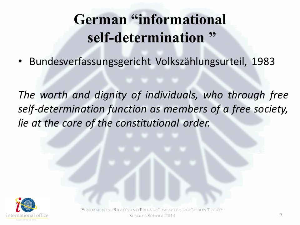 German informational self-determination