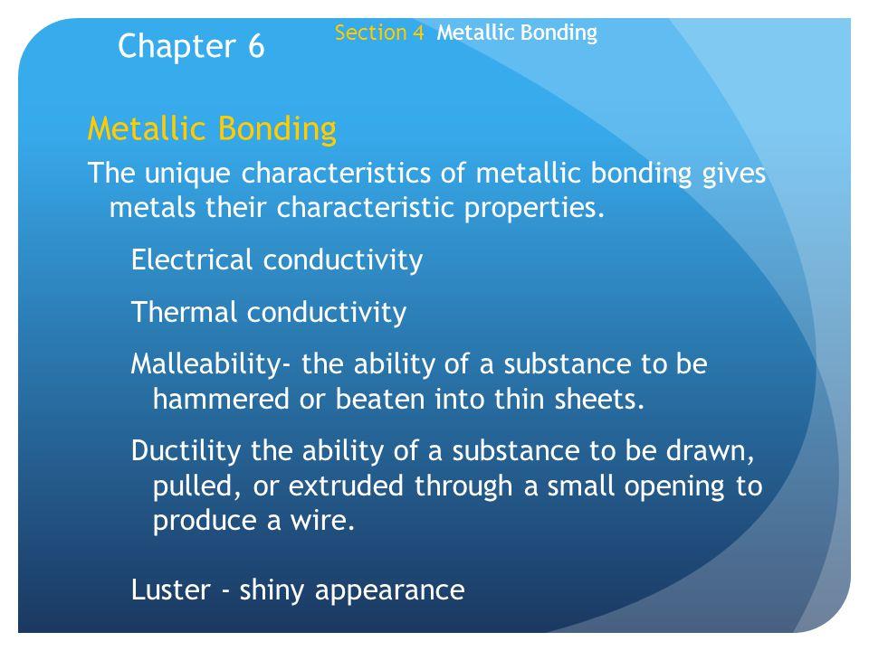 Chapter 6 Metallic Bonding
