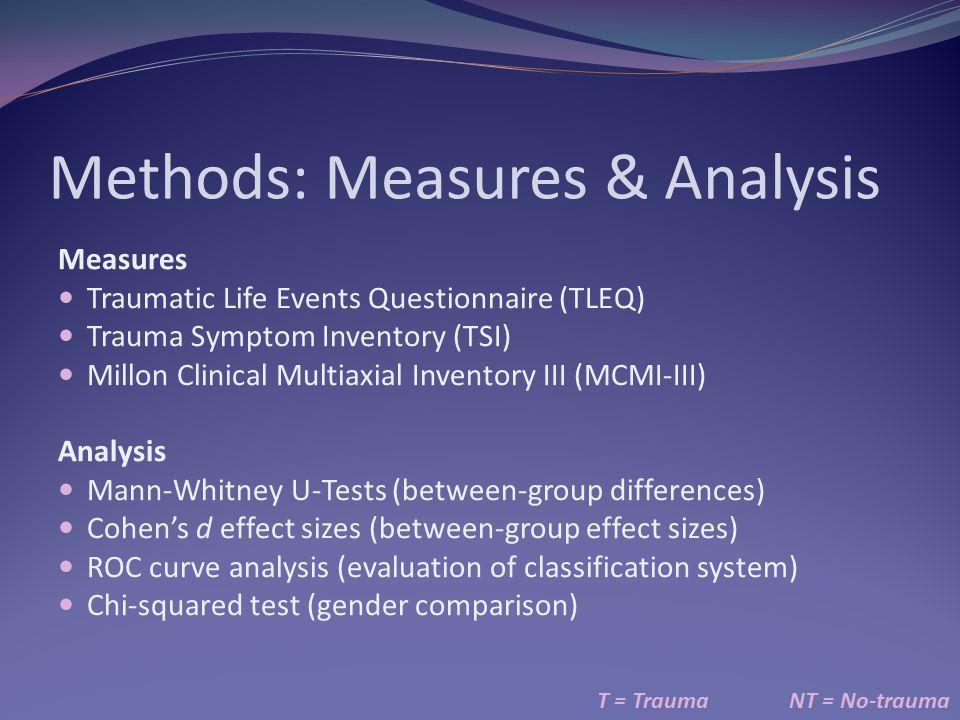 Methods: Measures & Analysis