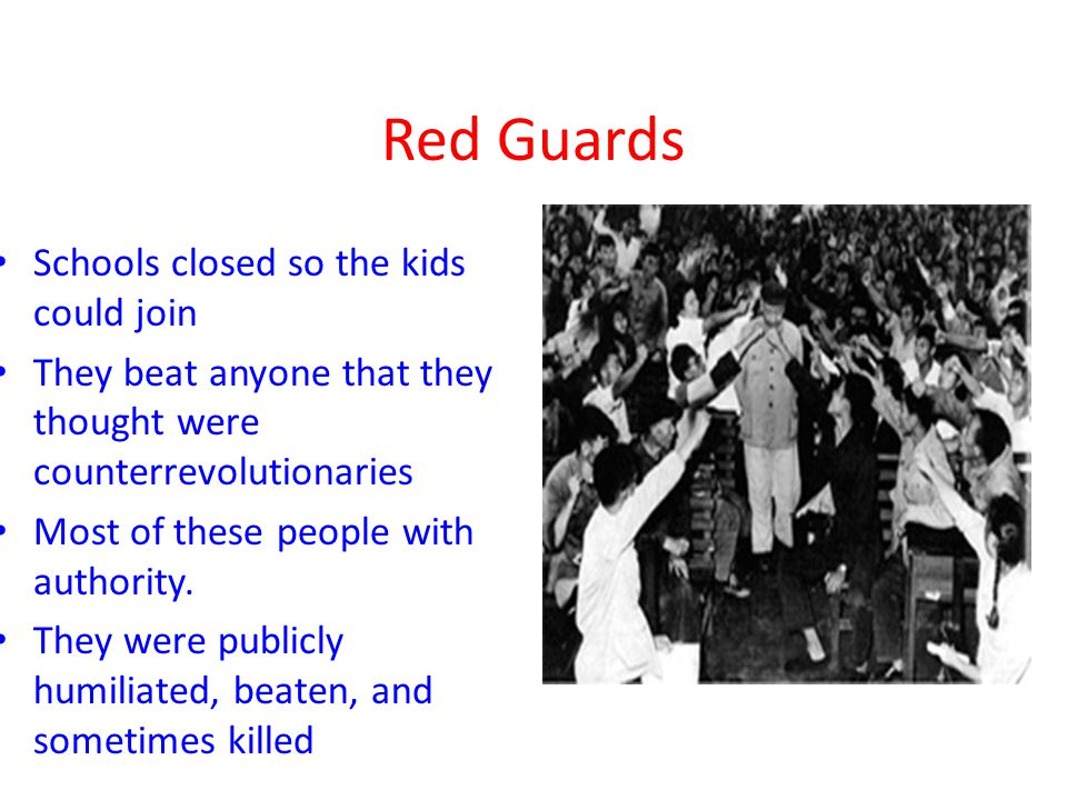 Red Guards Schools closed so the kids could join