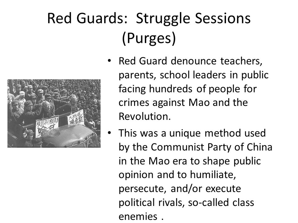 Red Guards: Struggle Sessions (Purges)