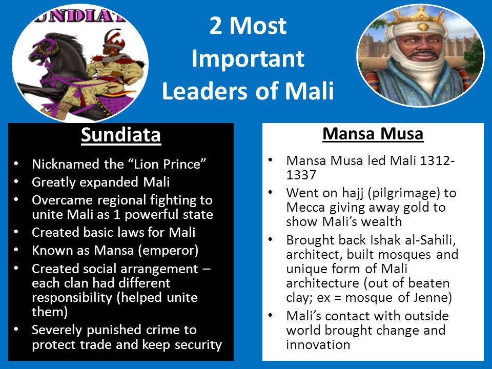 2 Most Important Leaders of Mali