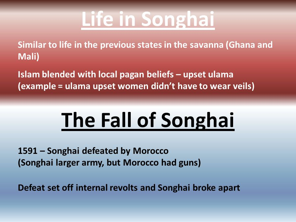 Life in Songhai The Fall of Songhai