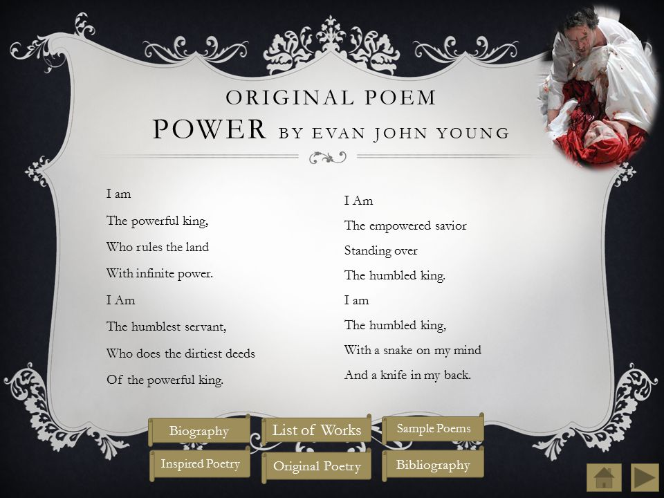 Original Poem Power by Evan John Young