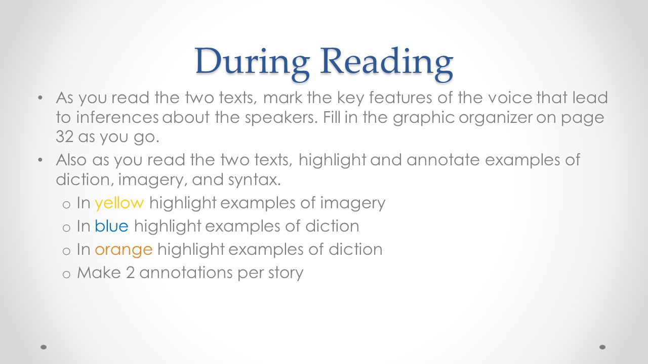During Reading