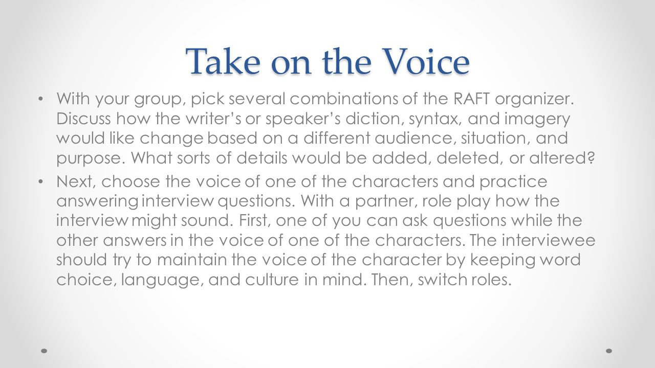 Take on the Voice