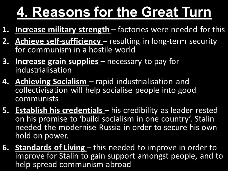 4. Reasons for the Great Turn