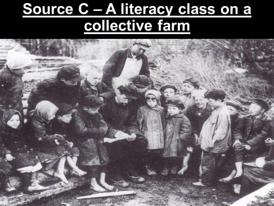 Source C – A literacy class on a collective farm