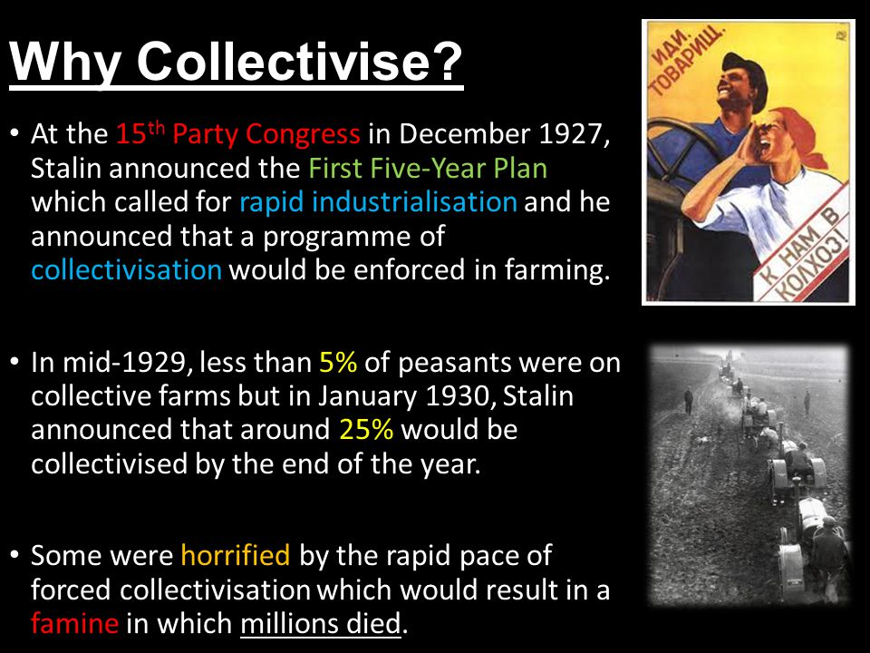 Why Collectivise