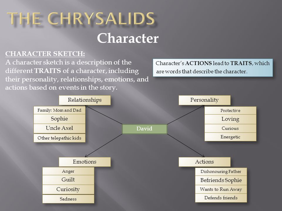 The Chrysalids Character CHARACTER SKETCH: