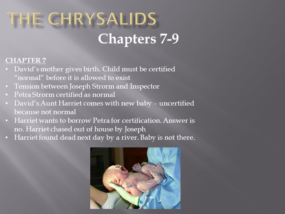 The Chrysalids Chapters 7-9 CHAPTER 7