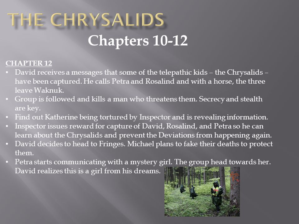 The Chrysalids Chapters 10-12 CHAPTER 12