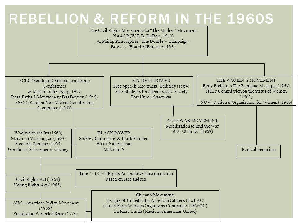 Rebellion & Reform in the 1960s