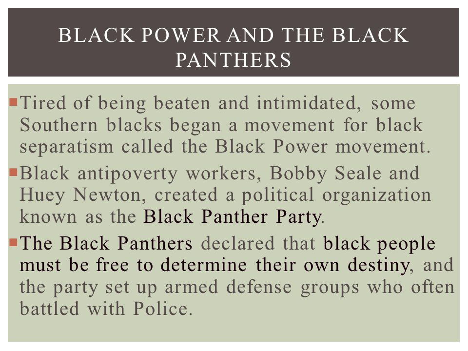 Black Power and the Black Panthers