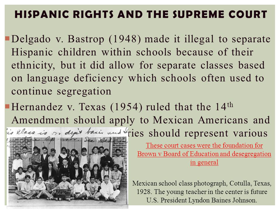 Hispanic Rights and the Supreme Court