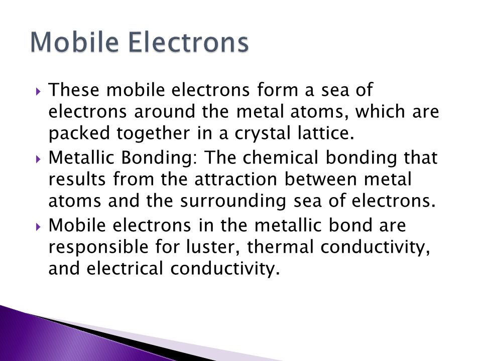 Chemistry – Chapter 6.4 Metallic Bonding. - ppt download