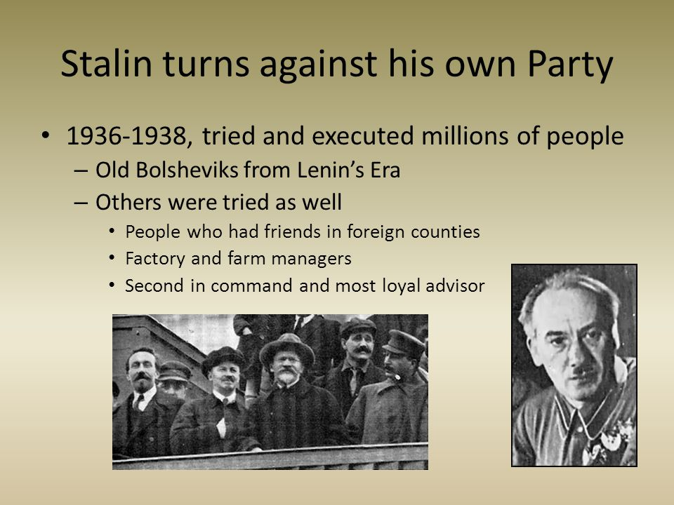 Stalin turns against his own Party