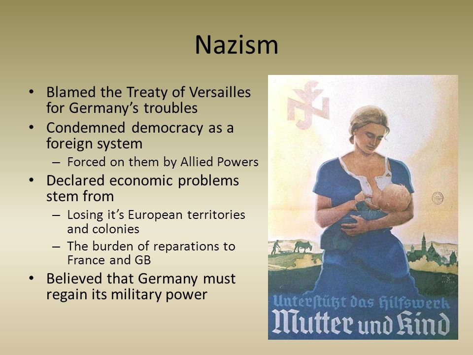 Nazism Blamed the Treaty of Versailles for Germany's troubles