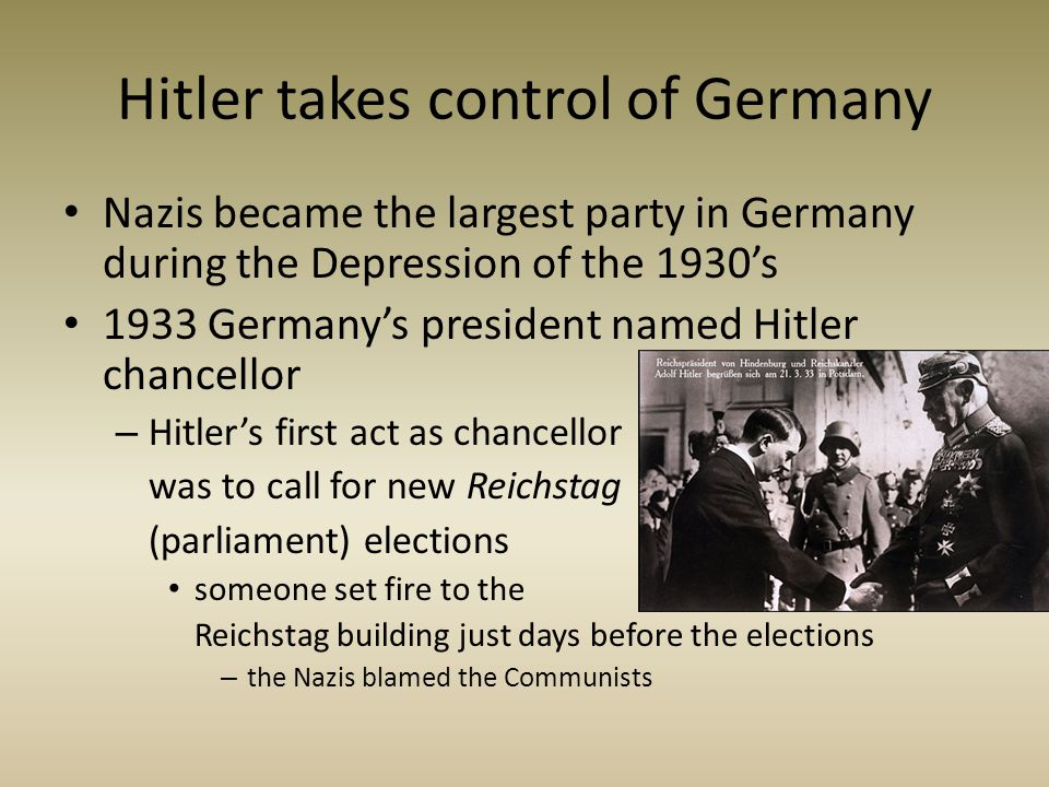 Hitler takes control of Germany