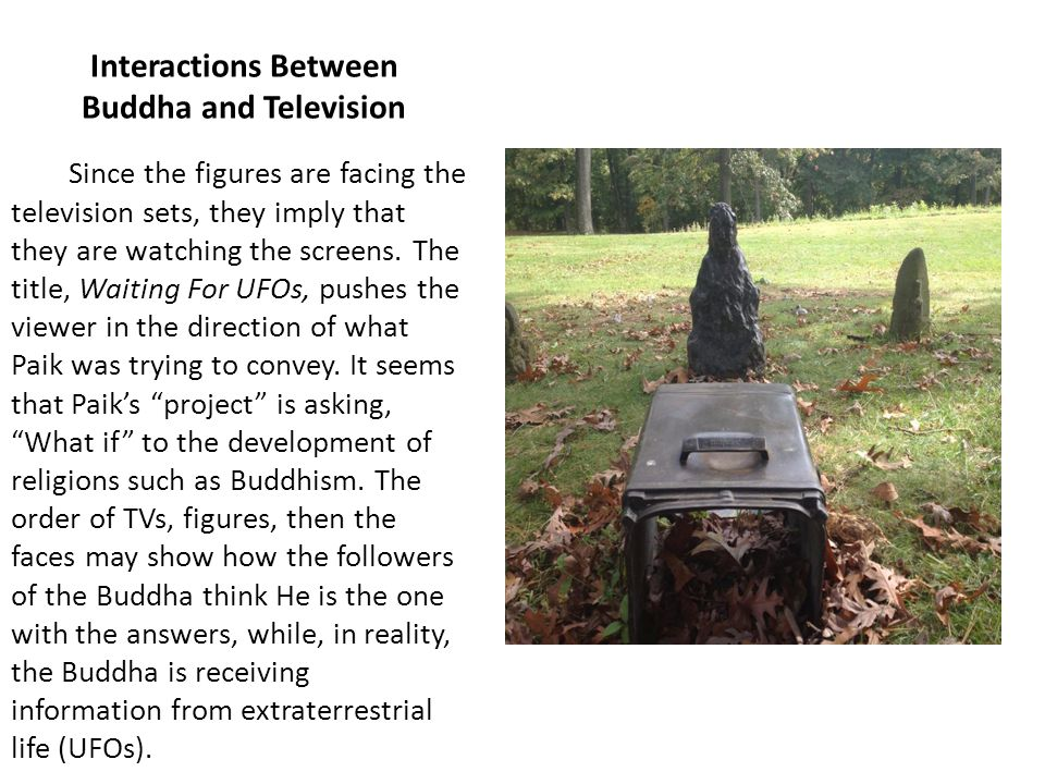 Interactions Between Buddha and Television