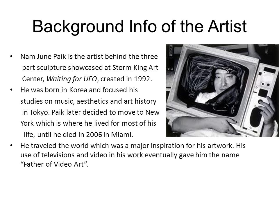 Background Info of the Artist