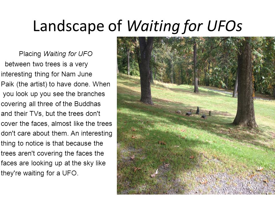 Landscape of Waiting for UFOs