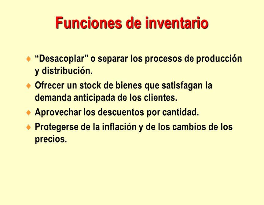Funciones de inventario