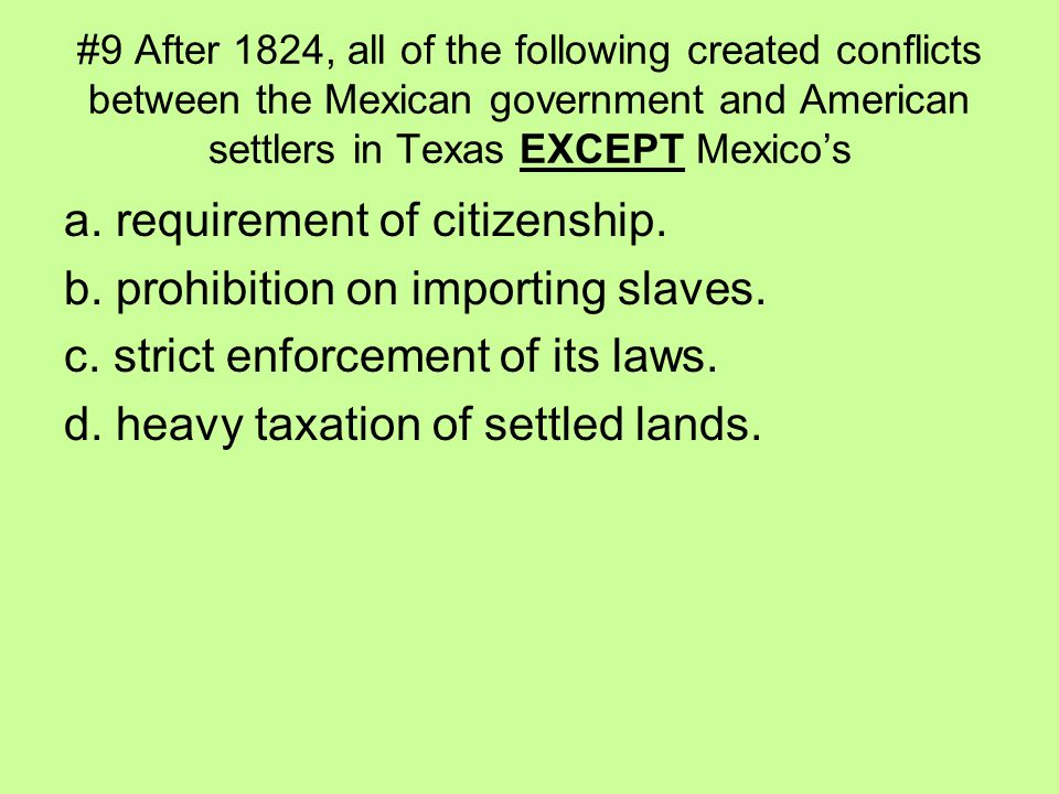 a. requirement of citizenship. b. prohibition on importing slaves.