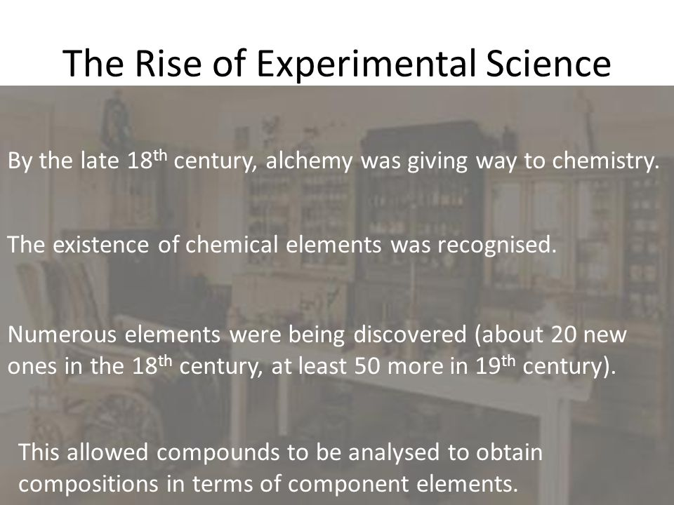 The Rise of Experimental Science