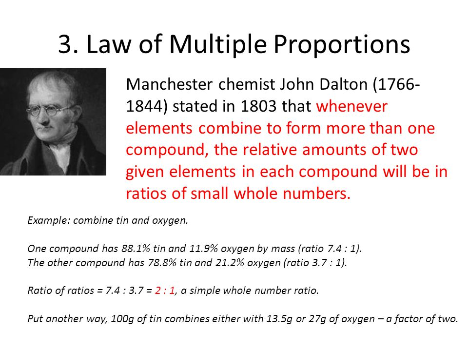 3. Law of Multiple Proportions