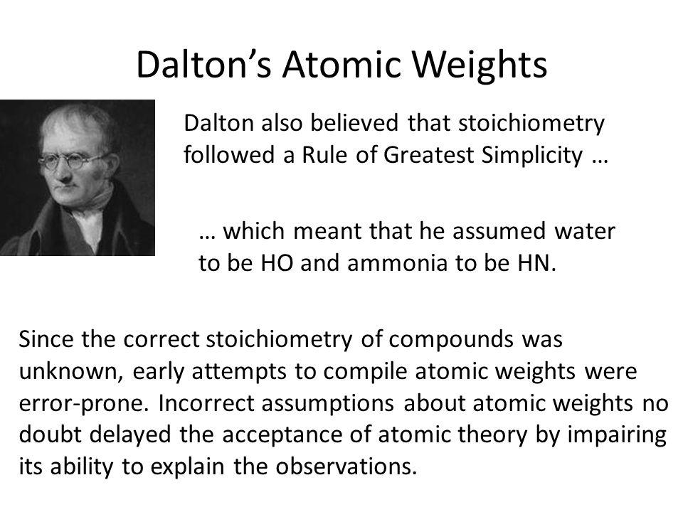 Dalton's Atomic Weights