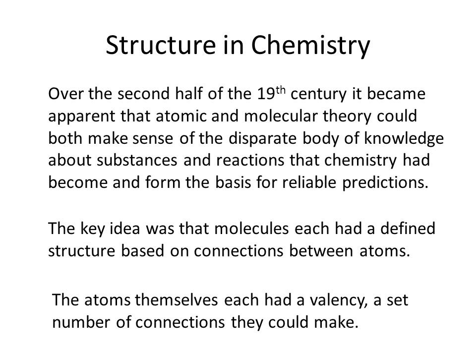 Structure in Chemistry