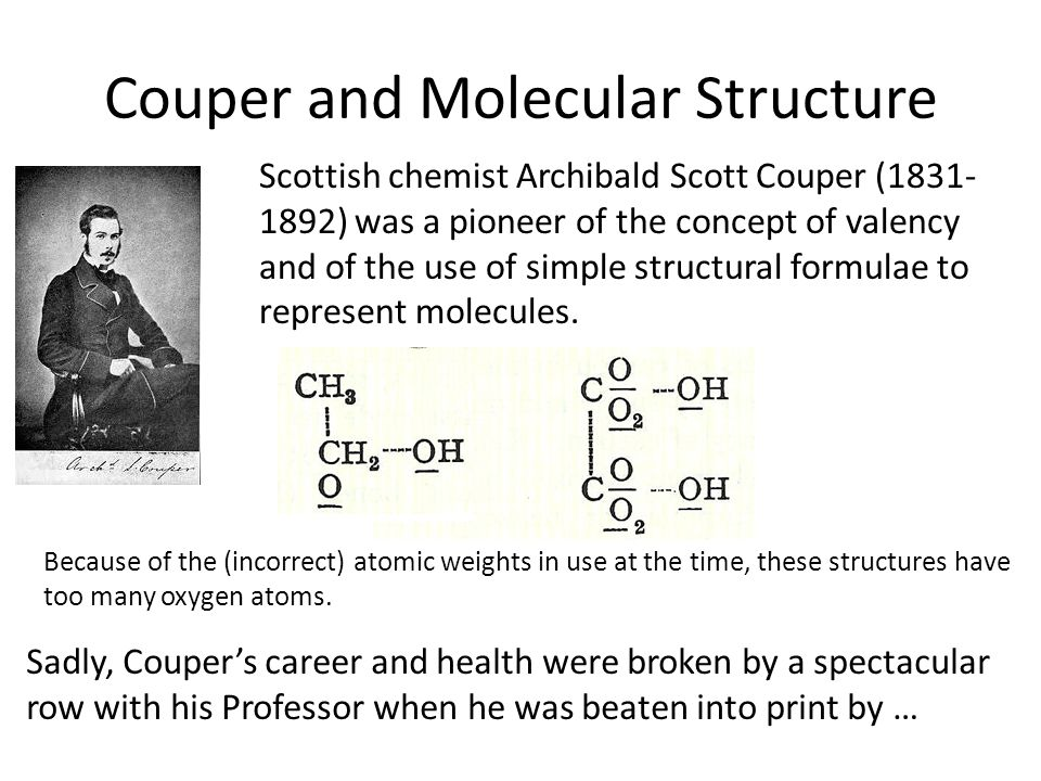 Couper and Molecular Structure