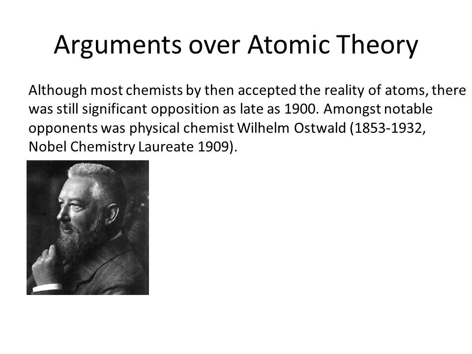 Arguments over Atomic Theory