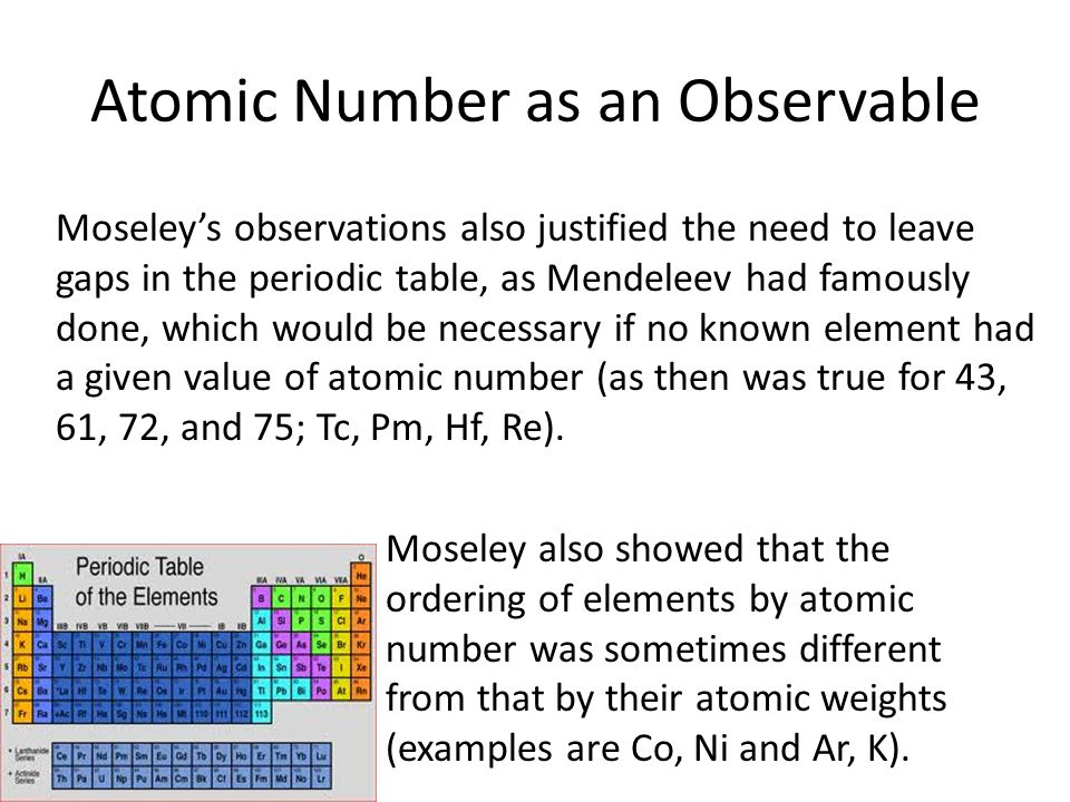 Atomic Number as an Observable