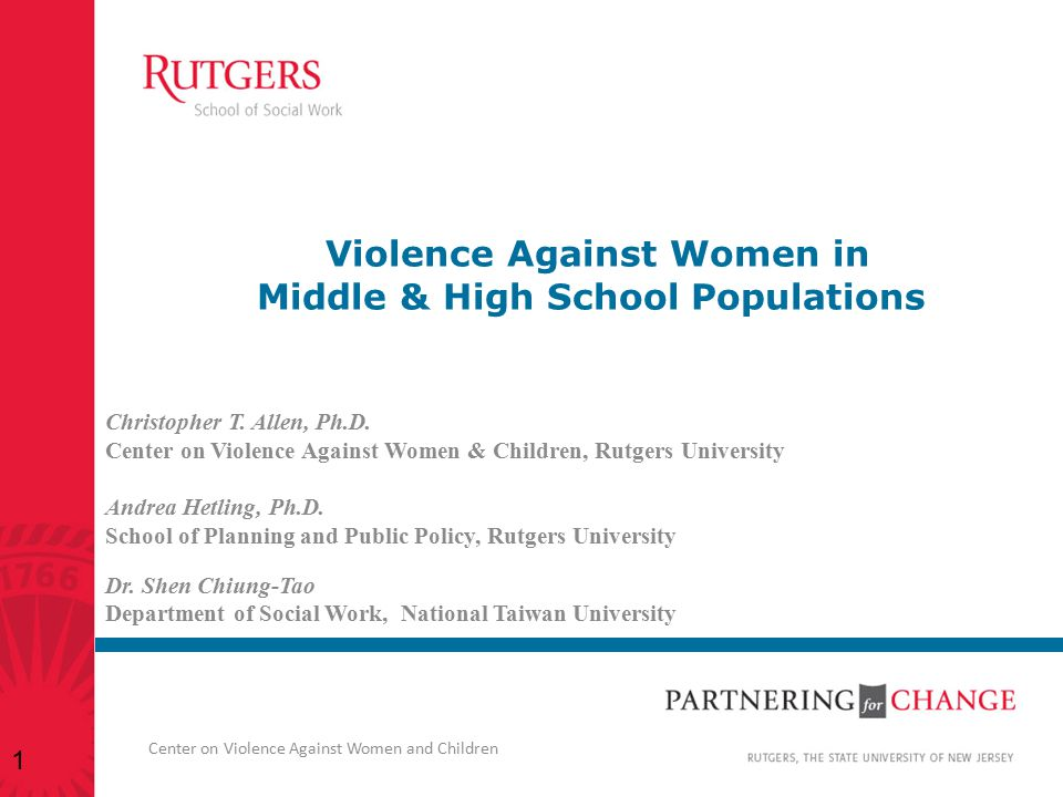 Violence Against Women in Middle & High School Populations