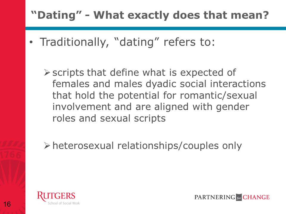 Dating - What exactly does that mean