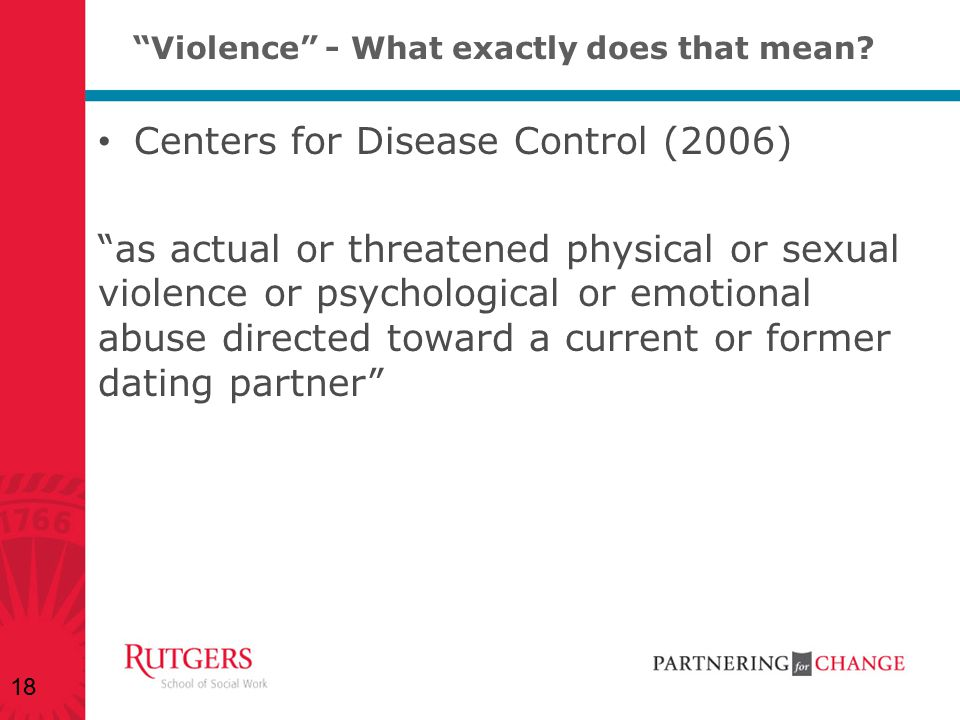 Violence - What exactly does that mean