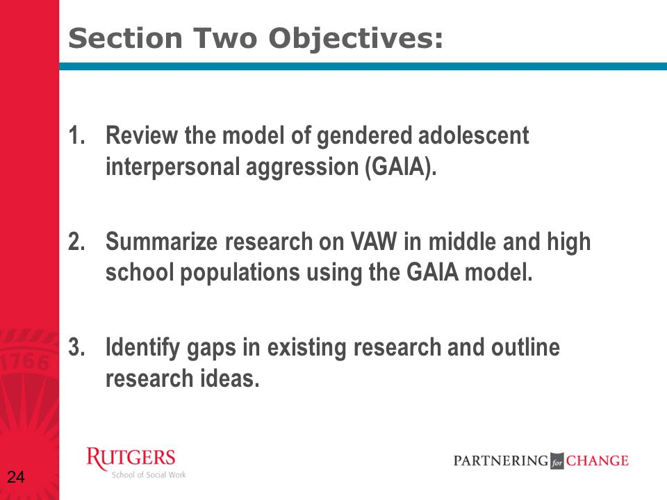 Section Two Objectives: