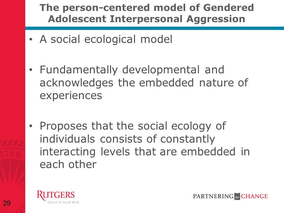 A social ecological model