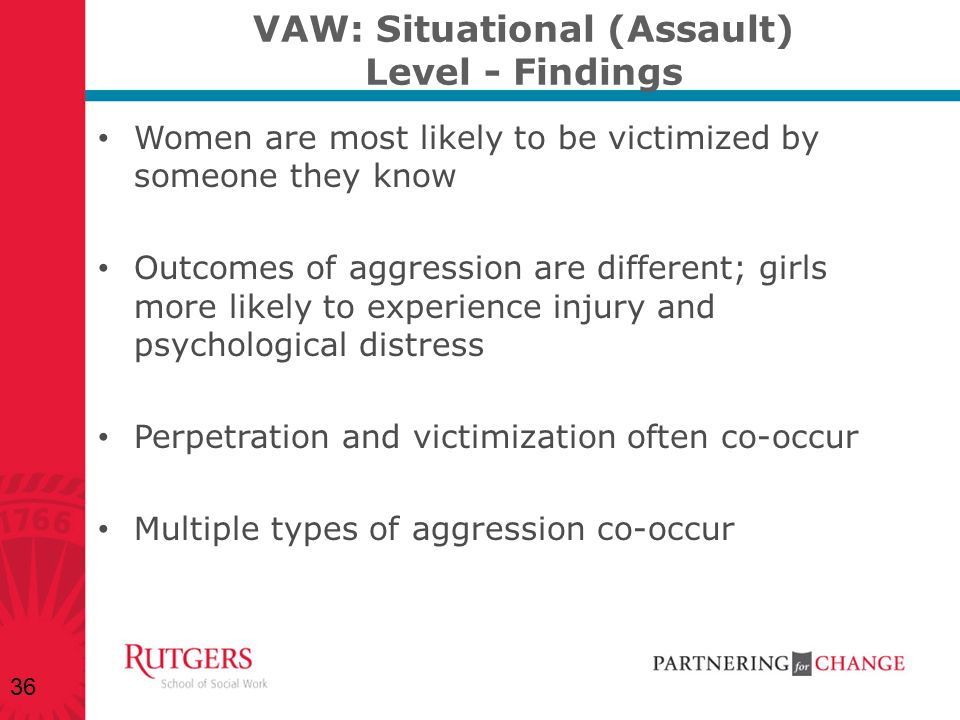 VAW: Situational (Assault) Level - Findings