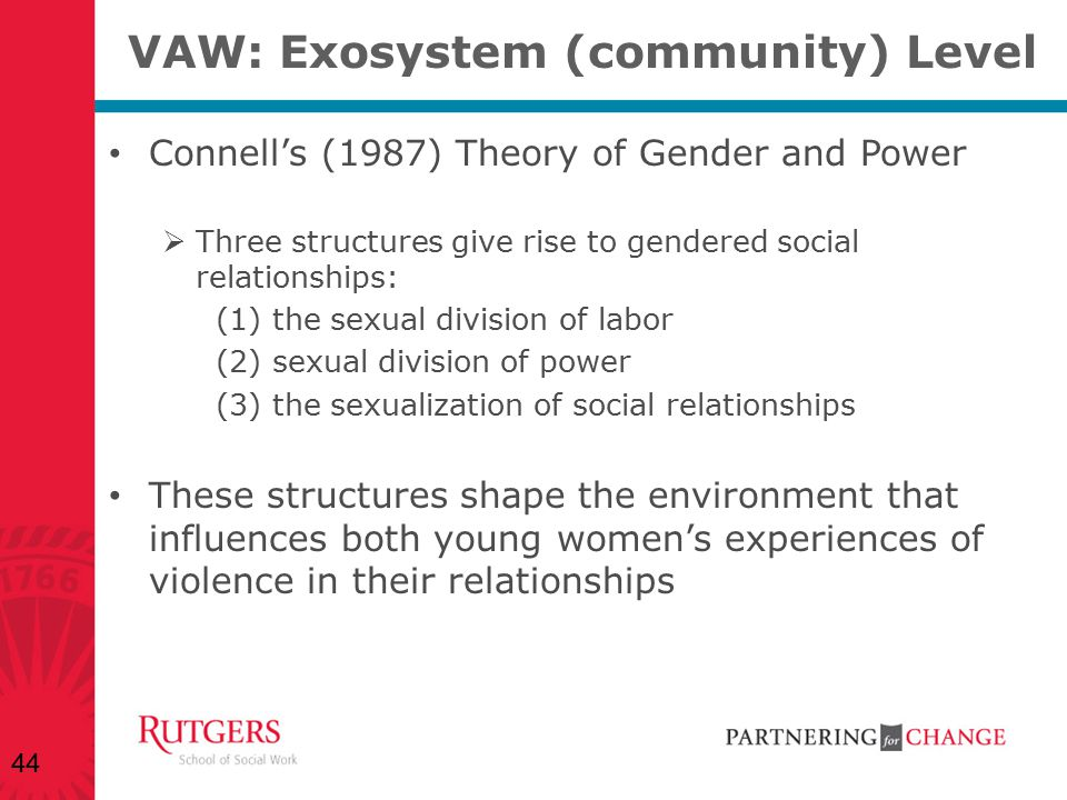 VAW: Exosystem (community) Level