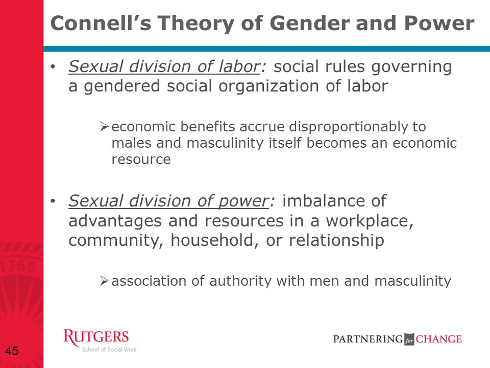 Connell's Theory of Gender and Power