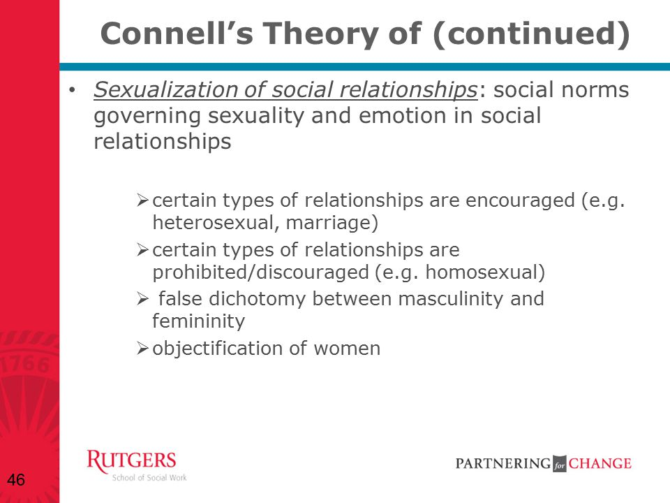 Connell's Theory of (continued)