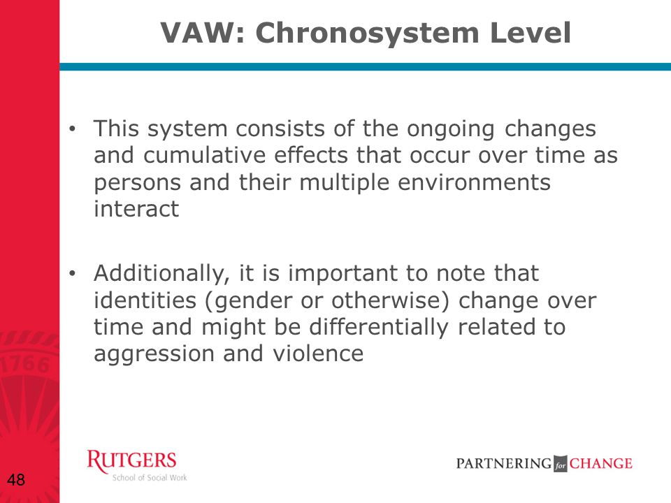 VAW: Chronosystem Level